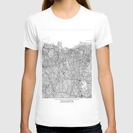 Jakarta Map White T-shirt