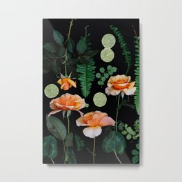 Blooms On Black .06 Metal Print