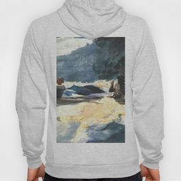 Shooting The Rapids 1902 By WinslowHomer | Reproduction Hoody