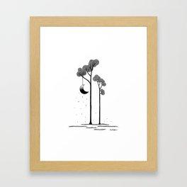 The moon trees Framed Art Print