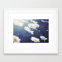 daisies Framed Art Prints featuring Daisies by Kameron Elisabeth
