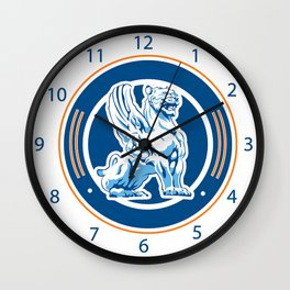 tiger wings emblem Wall Clock