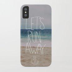 Let's Run Away   Sandy Beach, Hawaii Slim Case iPhone X