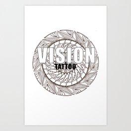 Visiontattoo Art Print