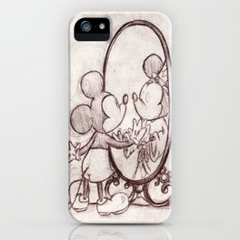 Mouse in the Mirror iPhone Case