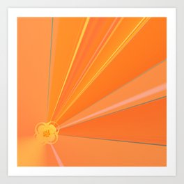 Abstract Golden Sun Flower Art Print