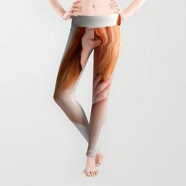 8726s-MM Clear Eyed Art Nude Model Red Hair High Key Light Leggings