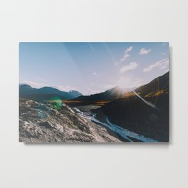 Glacial Meltwater Sunrise - Kenai Fjords National Park Metal Print