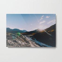Glacial Meltwater Sunrise - Kenai Fjords National Park Metal Print
