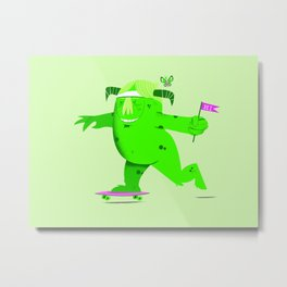 Barry Skate monster Metal Print