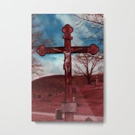 Christ on Cross Metal Print