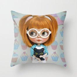 Erregiro Blythe Custom Doll Carmencita & Sócrates Throw Pillow