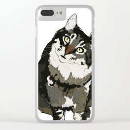 Cat Yellow Eyes Clear iPhone Case