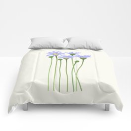 Blue Felicias Comforters