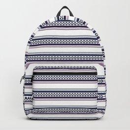Hipster fairisle modern pixel art fair isle pattern geometric print Backpack