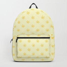 Amber Orange on Cream Yellow Snowflakes Backpack