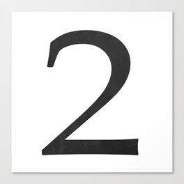 Number 2 (Black) Canvas Print