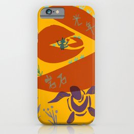 cat riding meteorite iPhone Case