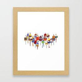 17 Buoys Framed Art Print