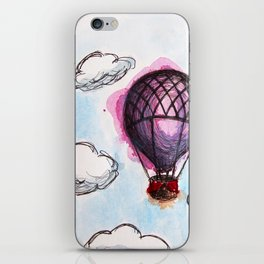 Purple hot air balloon iPhone Skin