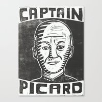 picard Canvas Prints featuring Captain Picard by Peter Dunne