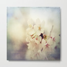 White Poppy Grudge Metal Print