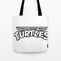 tmnt Tote Bags featuring TMNT by Unicity