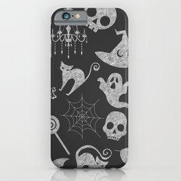 Dark Grey Chalkboard iPhone Case