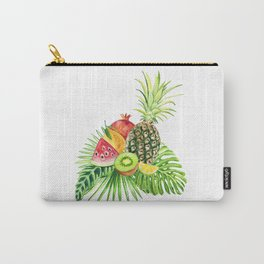 Print watercolor exotic fruits. Carry-All Pouch