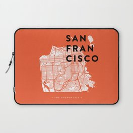San Francisco Map 04 Laptop Sleeve