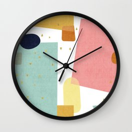 Confetti in Pastel Wall Clock