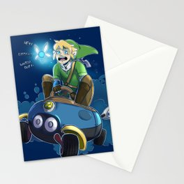 Hyrules greatest warrior...and most nervous driver. Stationery Cards