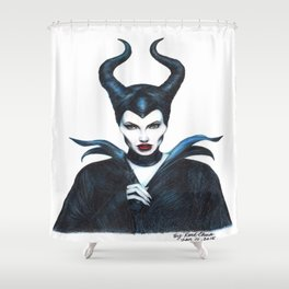 Maleficent Drawing Shower Curtain