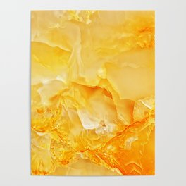Yellow onyx marble Poster