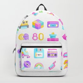 CUTE '80S PATTERN (RETRO THROWBACK EIGHTIES) Backpack