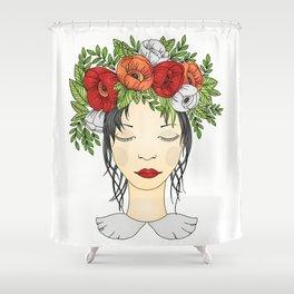 Flowers Queen - Poppies Shower Curtain