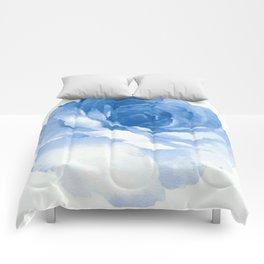 Blue Watercolor Design Comforters