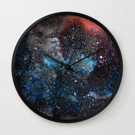Abstract Cosmos Watercolor Art Wall Clock