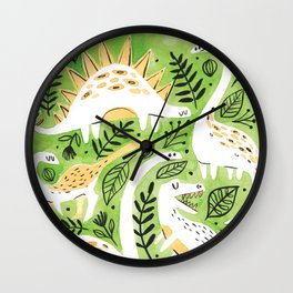 Dinosaur Forest Wall Clock