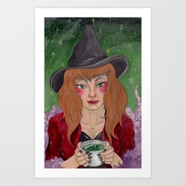 Tea Reading Art Print