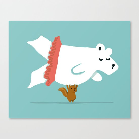 You Lift Me Up - Polar bear doing ballet Canvas Print