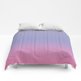 Pink and Purple Pastel Grid Aesthetic Fade Comforters