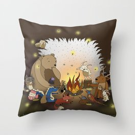 Woodland Tales Throw Pillow