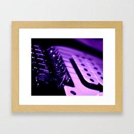 Guitar in Purple fine art photography Framed Art Print