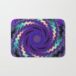 Purple Hurricane Fractal Bath Mat