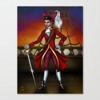 captain hook Canvas Prints featuring Captain Hook by Callie Clara