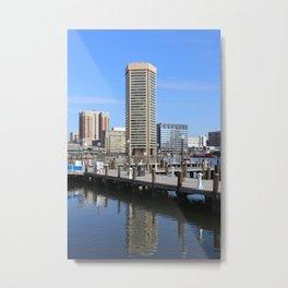 Baltimore's Inner Harbor and World Trade Center Metal Print