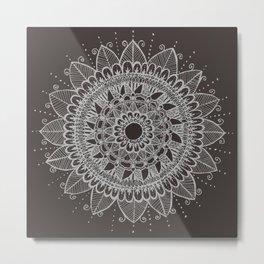 Mandala negative Metal Print