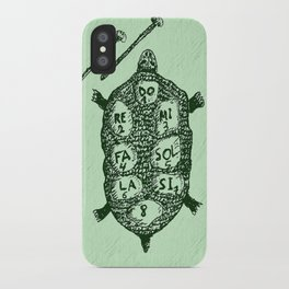 Turtle on Green iPhone Case