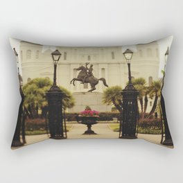 New Orleans Looking Through Jackson Square Rectangular Pillow